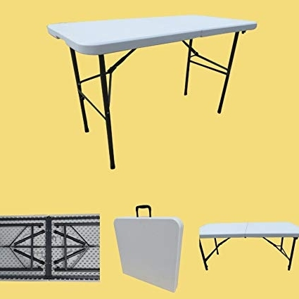 Most Popular Dining Tables 120X60 Throughout Buy Amaze Folding Garden Dining Table, Rectangular 120 X 60 Cm (4' X (View 10 of 20)
