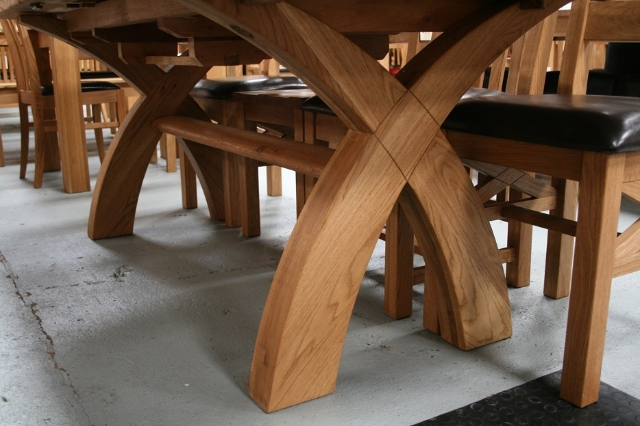 Most Popular Dining Tables With Large Legs With Regard To Country Oak Furniture (View 11 of 20)