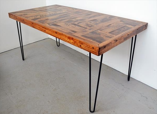 Most Popular Dining Tables With Metal Legs Wood Top Within Awesome Wood Dining Table With Metal Legs Remarkable Steel Legs For (View 13 of 20)