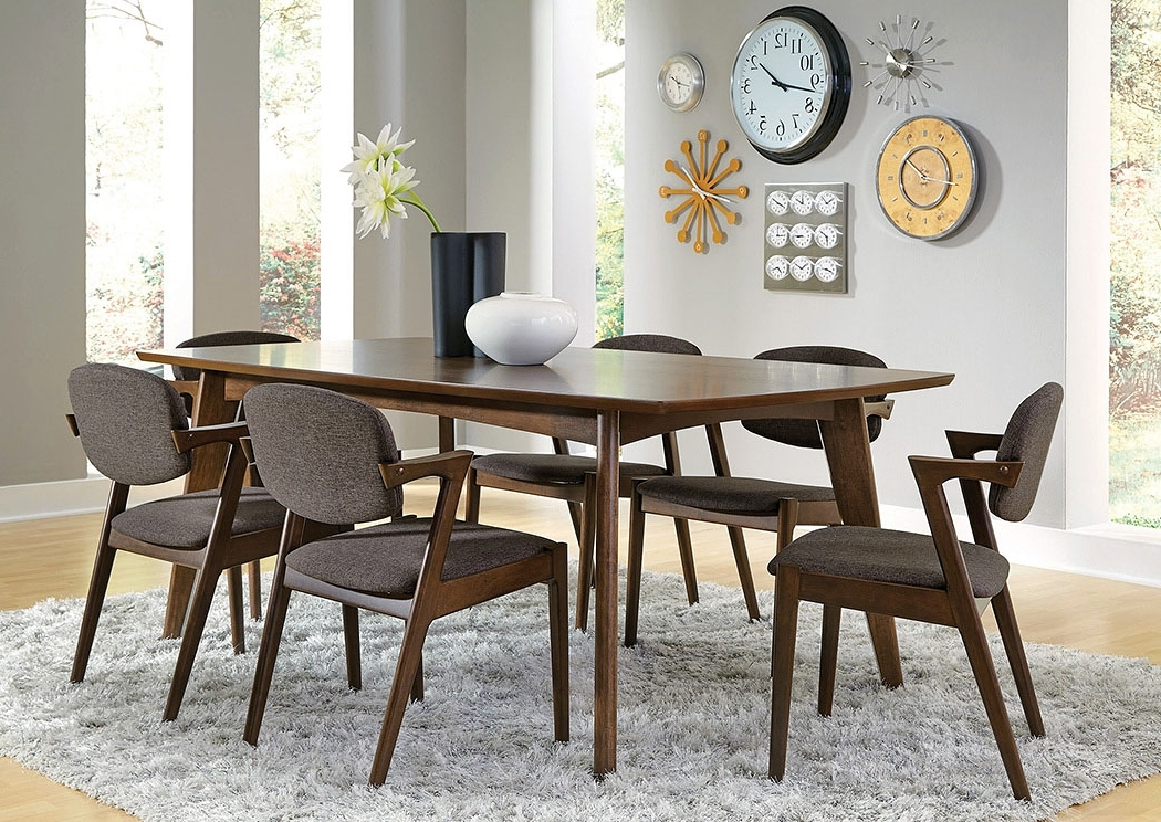 Most Popular Furniture Mart Tx Walnut Dining Table W/6 Chairs Intended For Walnut Dining Table And 6 Chairs (View 10 of 20)