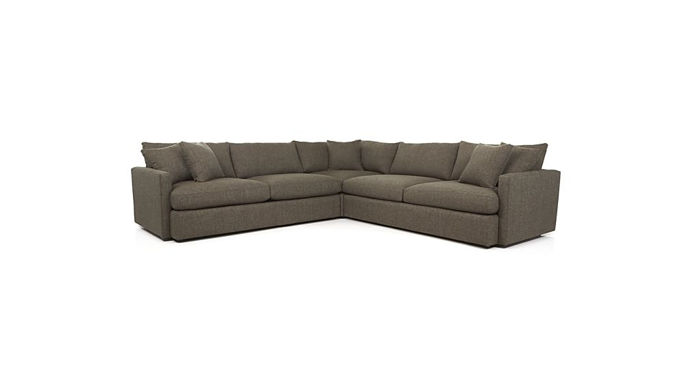 Most Popular Glamour Ii 3 Piece Sectionals Pertaining To Lounge Ii 3 Piece Sectional Sofa + Reviews (View 10 of 15)