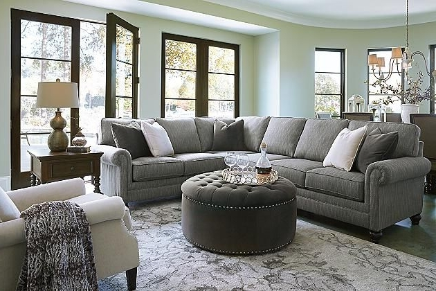 Most Popular Graphite Kittredge 3 Piece Sectional View 3 @ Ashley Furniture ( (View 15 of 15)