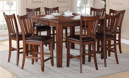 Most Popular Helms 7 Piece Rectangle Dining Sets With Side Chairs In Regal Living Chandler 9 Piece Counter Height Dining Set (View 8 of 20)