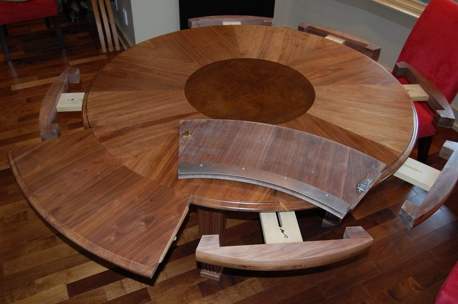 Most Popular Huge Round Dining Tables For How To Select Large Round Dining Table: Expanding Round Dining Table (View 15 of 20)