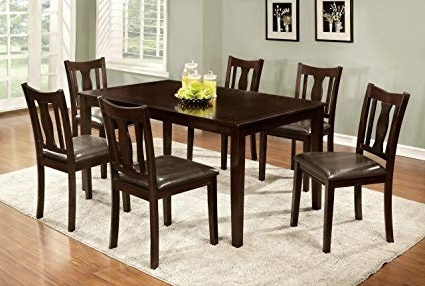 Featured Photo of Laurent 7 Piece Rectangle Dining Sets With Wood Chairs