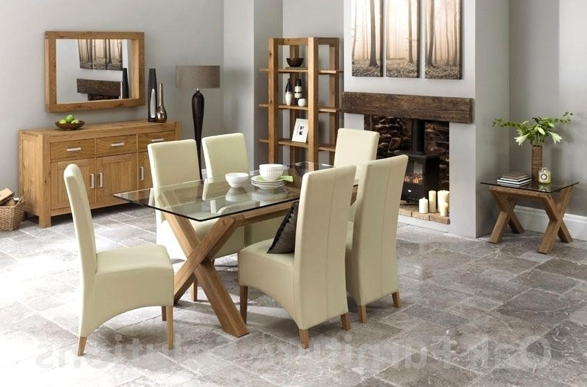 Most Popular Lush Oak Glass Dining Tables Ideas Ivory Dining Table And Chairs On Regarding Oak And Glass Dining Tables And Chairs (View 4 of 20)