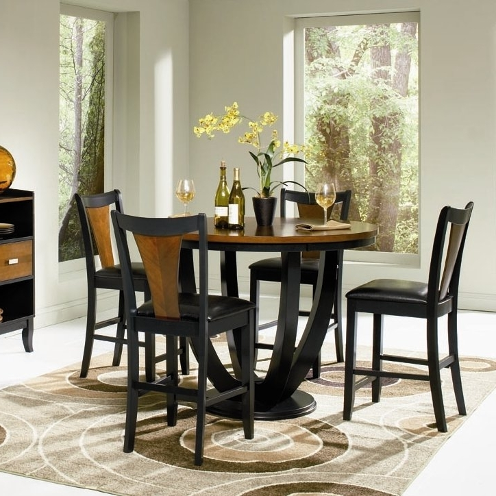 Most Popular Market 5 Piece Counter Sets Regarding Bloomsbury Market Sarris Round Counter Height Dining Table Reviews (View 9 of 20)