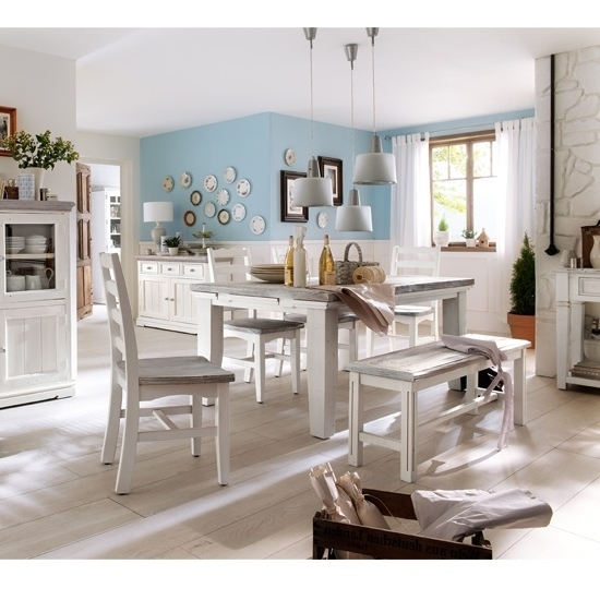 Most Popular Opal Extendable Dining Table 4 Chairs And Bench In White In Extendable Dining Table And 4 Chairs (View 10 of 20)