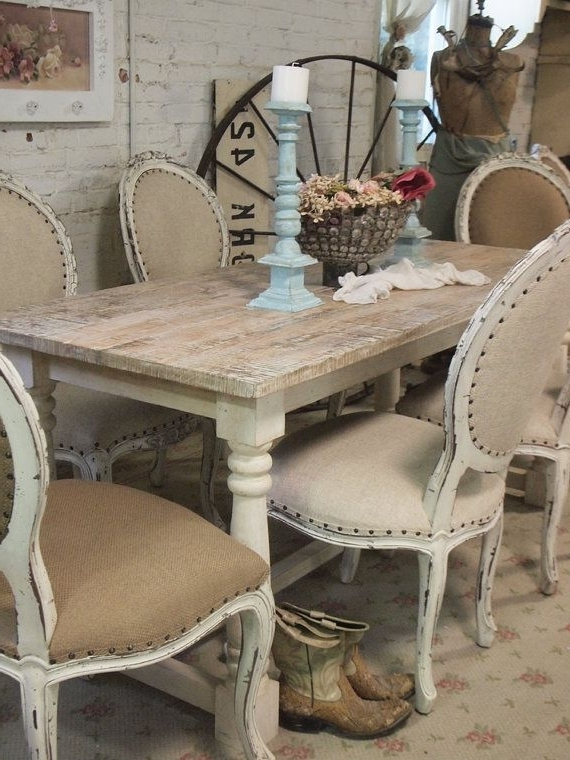 Most Popular Painted Cottage Chic Shabby French Linen Farmpaintedcottages Regarding French Country Dining Tables (View 15 of 20)