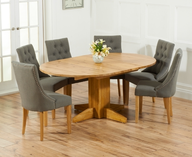 Most Popular Round Extending Oak Dining Tables And Chairs Intended For Round Oak Dining Table For 6 Dining Room Table Round Table 6 Awesome (View 10 of 20)