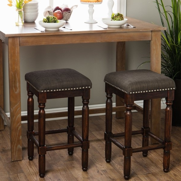 Most Popular Shop Carbon Loft Branson Coffee Counter Stools (Set Of 2) – Free With Regard To Laurent 7 Piece Counter Sets With Upholstered Counterstools (View 14 of 20)