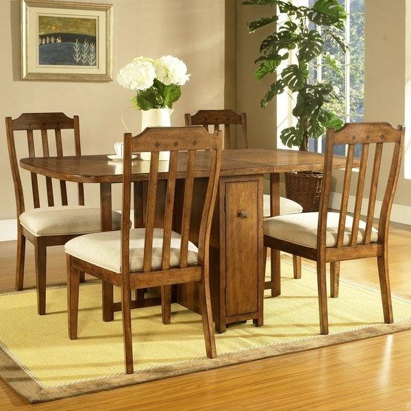 Most Popular Shop Somerton Dwelling Craftsman 5 Piece Gate Leg Dining Set – Free Regarding Craftsman 7 Piece Rectangular Extension Dining Sets With Arm & Uph Side Chairs (View 13 of 20)