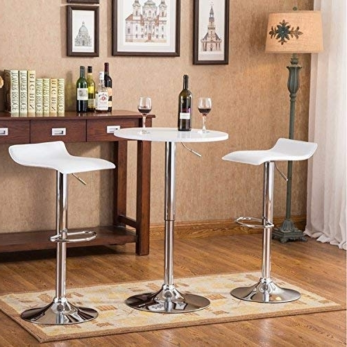 Most Popular Triangle Dining Table: Amazon Pertaining To Carly 3 Piece Triangle Dining Sets (View 14 of 20)