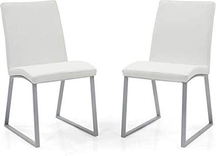 Most Popular Urban Ladder Delphine Dining Chairs, Set Of 2 (White): Amazon (View 11 of 20)