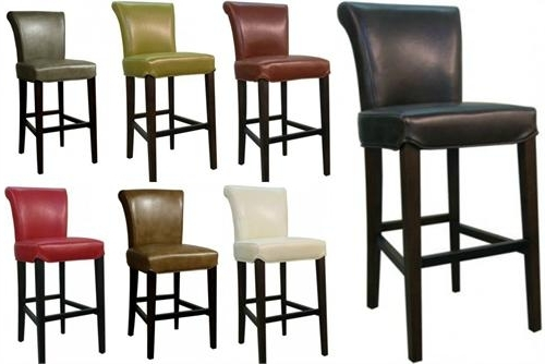 Most Popular Valencia 4 Piece Counter Sets With Bench & Counterstool Regarding Bentley Leather Counter Stool (View 7 of 20)