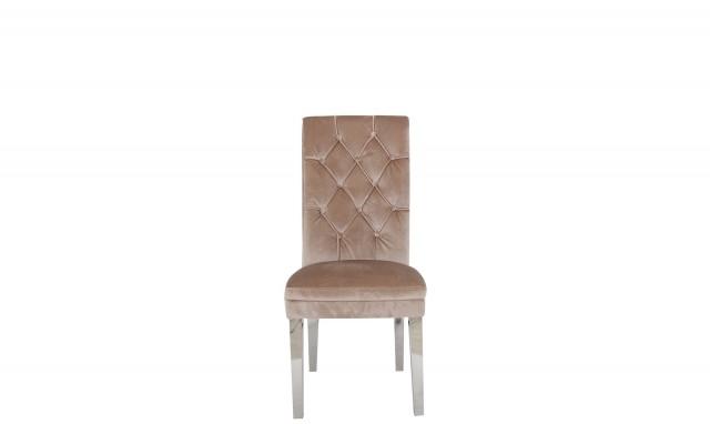 Most Popular Velvet Dining Chairs Inside Lynx – Beige Velvet Dining Chairs – Fishpools (View 12 of 20)