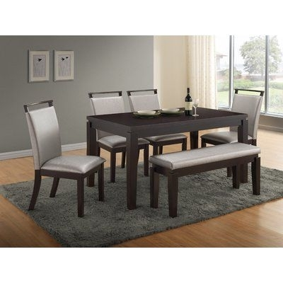 Most Popular Wade Logan Carmichael 6 Piece Dining Set (View 10 of 20)