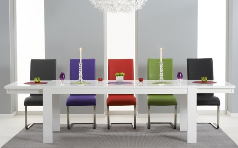 Most Popular White Gloss Dining Tables Sets Within High Gloss Dining Table Sets (View 9 of 20)