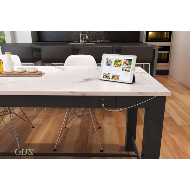 Most Recent 100975 – Dawson Dining Table Faux Marble & Matt Black Within Dawson Dining Tables (View 20 of 20)