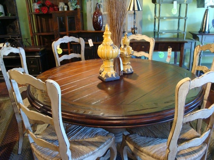 Most Recent 60Quot Round Hand Carved Pedestal Dining Table French Country Wicker With Regard To Pedestal Dining Tables And Chairs (View 7 of 20)