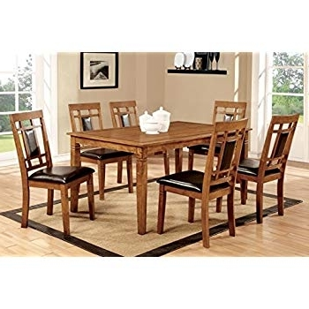 Most Recent Amos 7 Piece Extension Dining Sets Regarding Amazon – Furniture Of America Dalcroze 7 Piece Modern Dining Set (View 16 of 20)