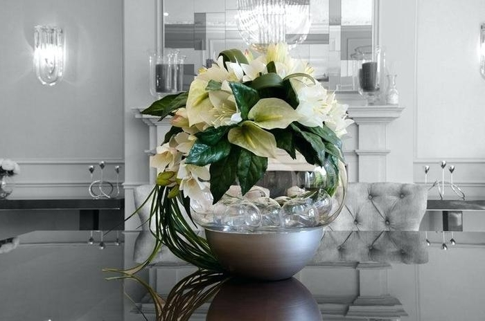 Most Recent Artificial Floral Arrangements For Dining Tables Within  (View 13 of 20)