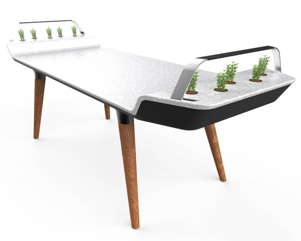 Most Recent Avia Dining Table With Small Hydroponic Gardens – Tuvie Throughout Gavin Dining Tables (View 14 of 20)