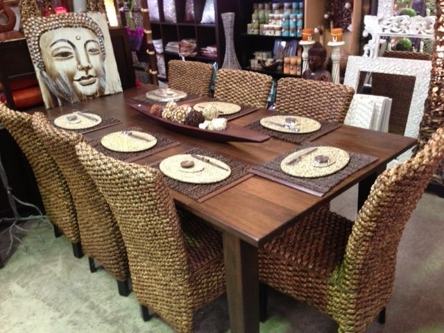 Most Recent Balinese Dining Tables For Recycled Mango Wood Dining Table & Water Hyacinth Chairs, Love These (View 12 of 20)