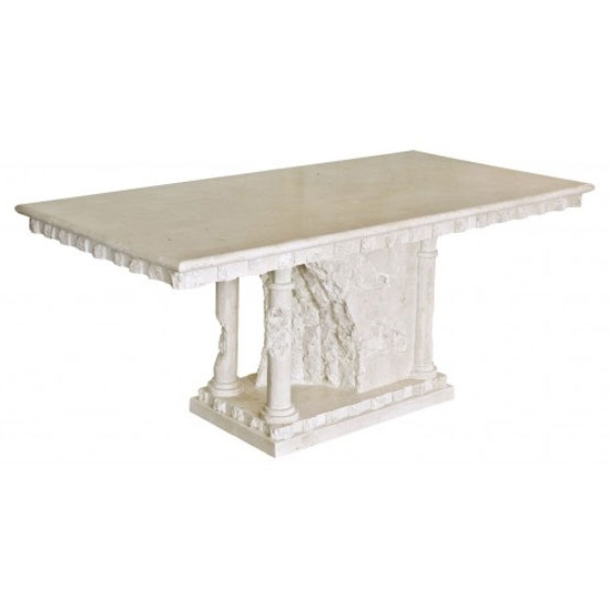 Most Recent Bellagio Macatan Stone Roman Style Dining Table 19441 With Regard To Bellagio Dining Tables (View 16 of 20)