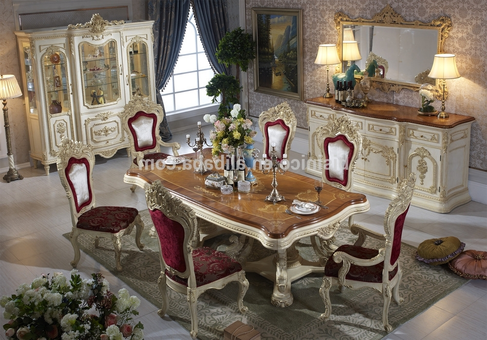 Most Recent Bisini Luxury Italian Style Dining Table,french Royal Dining Room Pertaining To Royal Dining Tables (View 3 of 20)