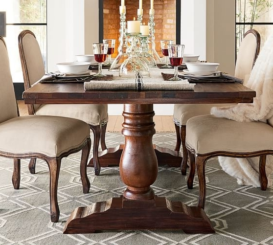 Most Recent Bowry Reclaimed Wood Dining Table Pottery Barn Intended For Remodel Throughout Oval Reclaimed Wood Dining Tables (View 17 of 20)