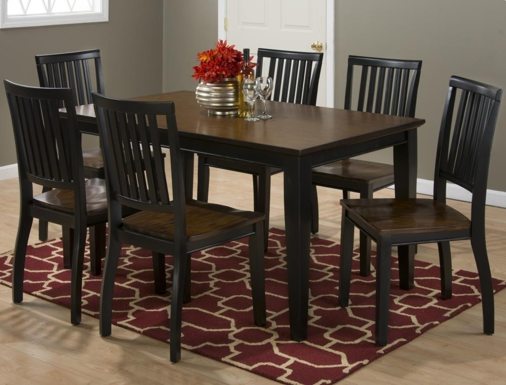 Most Recent Braden Antique Black Rectangle Dining Table With Six Chairs With Dining Tables And Six Chairs (View 12 of 20)