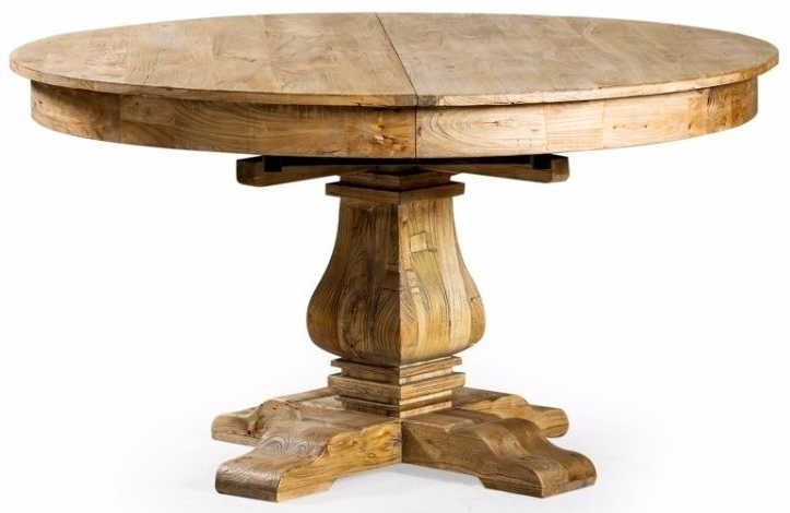 Most Recent Buy Reclaimed Elm Round Extending Large Dining Table – 145Cm 185Cm Within Extendable Round Dining Tables (View 13 of 20)