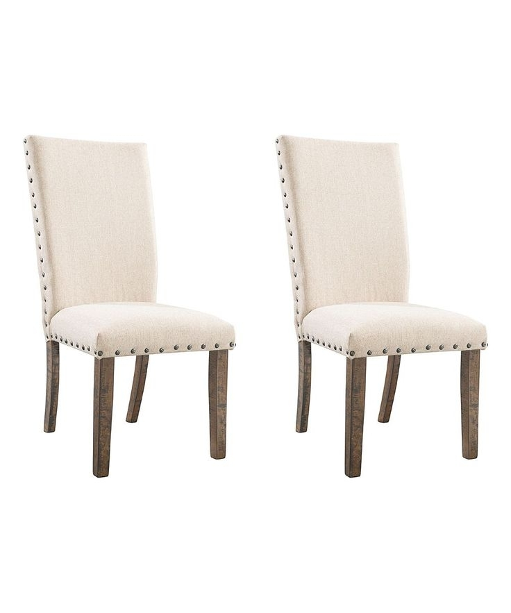 Most Recent Chandler 7 Piece Extension Dining Sets With Fabric Side Chairs For Cream Dex Side Chair – Set Of Two (View 13 of 20)