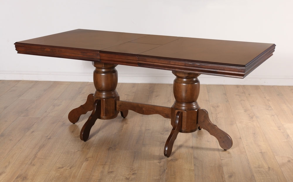 Most Recent Chatsworth Dining Tables Pertaining To Chatsworth Extending Dark Wood Dining Room Table 150  (View 15 of 20)