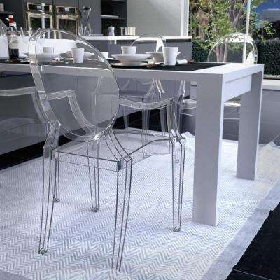 Most Recent Clear Plastic Dining Tables Pertaining To Modern – Clear – Plastic – Dining Chairs – Kitchen & Dining Room (View 9 of 20)
