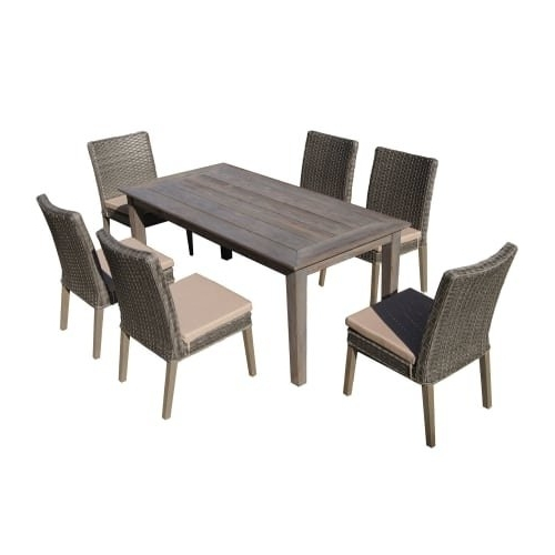 Most Recent Cora 7 Piece Dining Sets Regarding Shop Delacora Df 6114 Bas 7 Piece Outdoor Dining Set With (View 2 of 20)