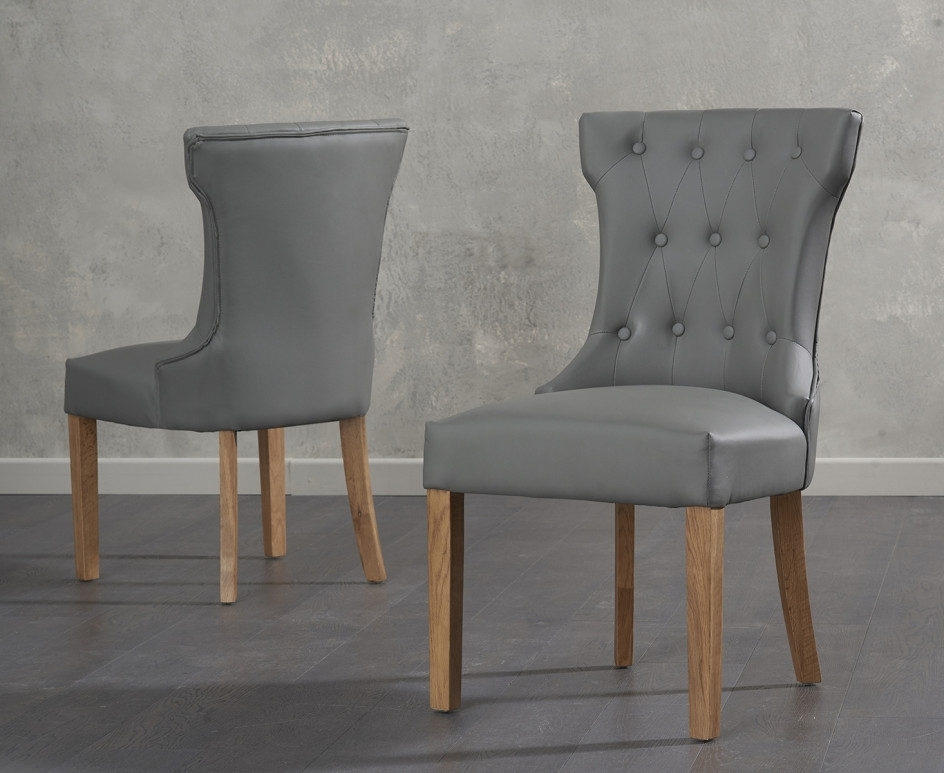 Most Recent Cora Grey Faux Leather Dining Chairs (View 14 of 20)