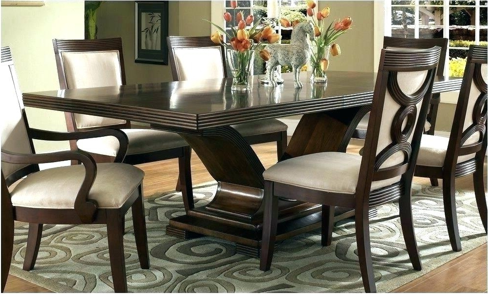Most Recent Dark Brown Wood Dining Tables For Black And Brown Dining Room Table Image 1 Haddigan Dark Brown (View 13 of 20)