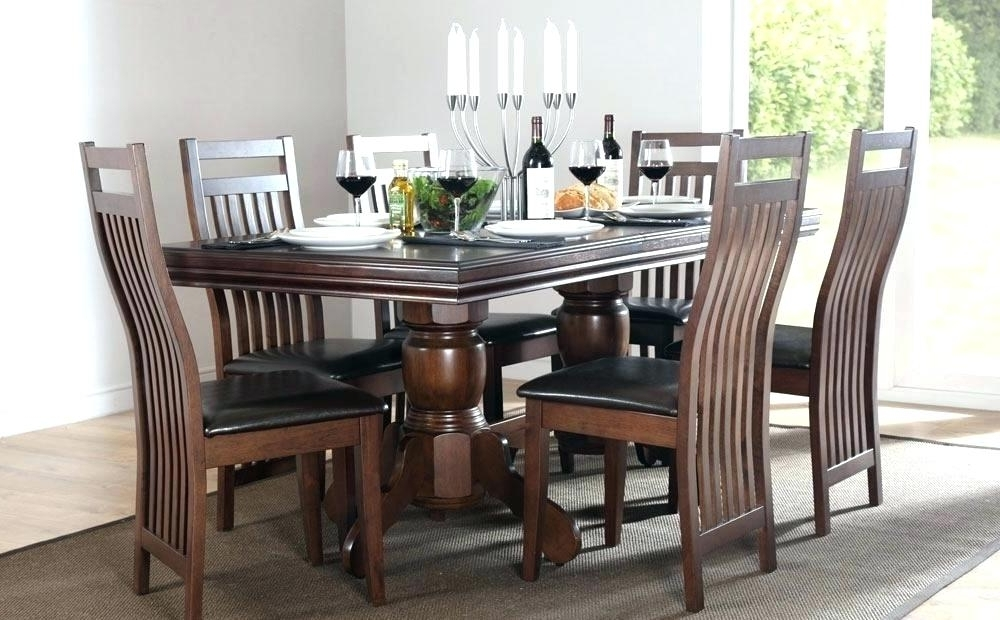 Most Recent Dark Wood Dining Tables With Dark Wood Table And Chairs – Dailygossip (View 13 of 20)