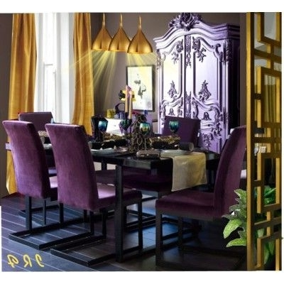 Most Recent Dining Tables And Purple Chairs For Purple Dining Room (View 11 of 20)