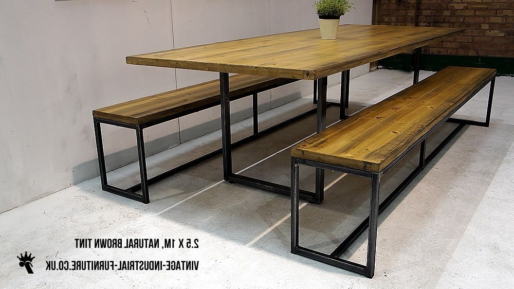 Most Recent Dining Tables With Metal Legs Wood Top For Wood Top Metal Legs Industrial Dining Table From Http://vintage (View 14 of 20)