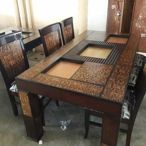 Most Recent Drake Wooden Six Seater Dining Table, Rs 27500 /set, Om Sai With Six Seater Dining Tables (View 12 of 20)