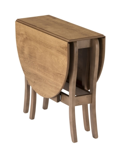 Most Recent Drop Leaf Table Heatproof Folding Dining Kitchen Gateleg Seats 6 Throughout Oval Folding Dining Tables (View 9 of 20)