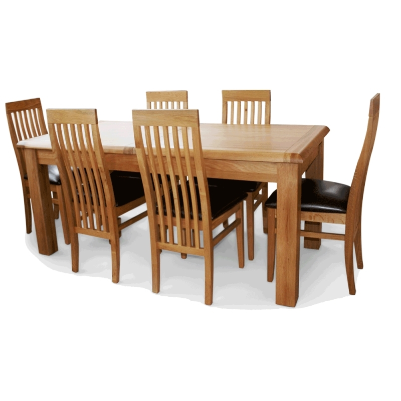 Most Recent Extending Oak Dining Table¦ Ez Living Sheehys Furniture Intended For Oak Dining Tables With 6 Chairs (View 7 of 20)