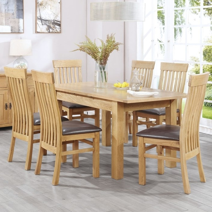 Most Recent Florence Chunky Solid Oak Cm Oak Dining Table 6 Chairs Fresh Intended For Chunky Solid Oak Dining Tables And 6 Chairs (View 12 of 20)