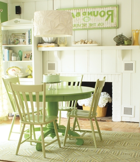 Most Recent Green Dining Room Furniture Beauteous Colorful Dining Tables In Green Dining Tables (View 4 of 20)