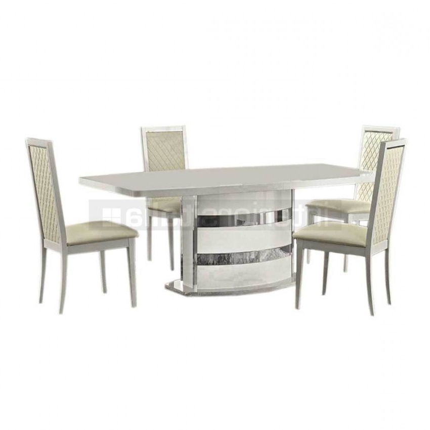 Most Recent High Gloss Dining Furniture Throughout High Gloss Dining Set (View 13 of 20)