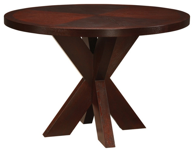 Most Recent Hudson Round Dining Tables With Regard To Modus Hudson Round X Base Counter Table – Transitional – Dining (View 13 of 20)