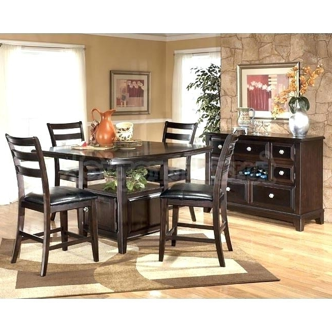Most Recent Hyland 5 Piece Counter Sets With Bench Regarding Ashley Furniture Dining Table Set (View 14 of 20)